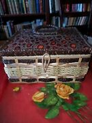 Vintage Charming Sewing Kit, Full Of Vintage Supplies And Traveling Sewing Kits