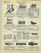 1928 Paper Ad Automatic Canvas Collapsible Duck Hunting Decoy Illinois River