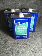 Dn Lot Of 3 Klean Strip Boiled Linseed Oil 1 Qt. Cans