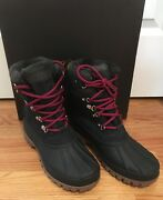 Nwt J Crew Womenand039s Perfect Winter Boots Navy Nubuck Size 10 H1891 Retail