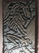 Hand Carved Art Super Realistic Dragon Fossil In Stone Slab Sculpture Decoration
