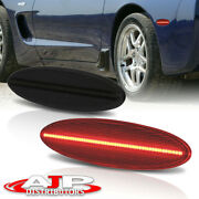 Smoked Rear Driving Led Side Marker Lights Lamps For 1997-2004 Chevy Corvette C5