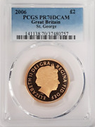 2006 Gold Andpound2 Sovereign Proof Pr70dcam Pcgs Great Britain Two Pound Double
