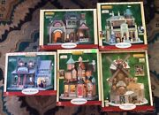 Lemax Village Collection Of 5 Retired All New Mib. With Free Table Accent Set