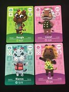 Lot Of 4 Amiibo Cards- 056 Bangle + 072 Lionel + 164 Bianca + 169 Bud Unscanned