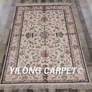 Yilong 4and039x6 Classic Silk Hand Made Area Rug Traditional Hand Craft Carpets 067m