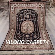 Yilong 4and039x6and039 Vintage Silk Handmade Area Rug Small Oriental Handcraft Carpet 065m