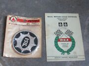 Vtg 1970 New In Package Bsa Motorcycles 3 Oem Patch Quality Control Card Lot
