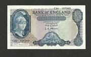 1957 Bank Of England Five Pounds Oand039brien Prefix C24andpound5 Nd 1957-1961 P-371