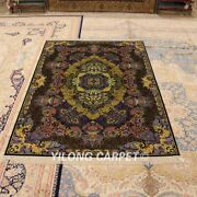 Yilong 4and039x6and039 Handcraft Classic Silk Area Rug Hand Knotted Nice Room Carpet Z150a
