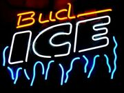 Bud Ice Frost 17x14 Neon Sign Lamp Light Beer Bar Windows With Dimmer
