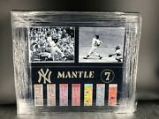 Mickey Mantle Framed Championship Tickets With Photos New York Yankees