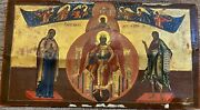 Antique Russian Orthodox Large Icon, For Restoration