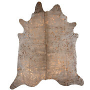 Extra Large High Quality Genuine Cow Hide Skin With Metallic Detailing