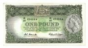 1961 Australia One Pound Coombs/wilson Star Note Ef Lightly Pressed He 8949484