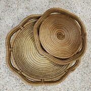 Hand Woven Set Of Unique Baskets 12 And 17