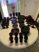 Vintage Avon Cape Cod Ruby Red Diner Wear Collectible Set