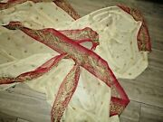 Croscill Classics Empress Imperial Red Gold Sheer 1pc Scarf Valance 40 X 216
