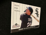2009 Chicago White Sox Baseball Pocket Schedule 7-11 Version Jim Thome