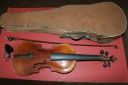 High-end Antique Stainer Copy Violin With Tiger Maple Wood Back W/ Bow And Case