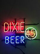 Dixie Beer 45 Real Glass 20x16 Neon Sign Lamp Bar With Dimmer