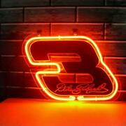 Nascar 3 Dale Earnhardt 20x16 Neon Sign Lamp Bar With Dimmer