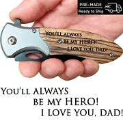 Fatherand039s Day Gift From Daughter Or Son - Engraved Pocket Knife For Beloved Dad