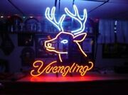 Yuengling Deer Stag Buck Head 20x16 Neon Sign Lamp Bar With Dimmer