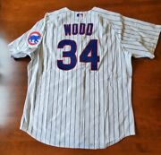 2004 Kerry Wood Autographed Chicago Cubs Majestic Authentic Home Game Jersey