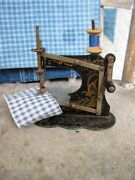 Small Antique Toy Sewing Machine W Crank Handle Free Shipping