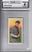 1909-11 T206 Sweet Caporal Cigarette On Shirt Johnny Evers Z26712 - Gai Vgex 4