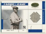 2003 Leaf Certified Materials Fabric Of The Game 15ba Babe Ruth 9/10 E10552