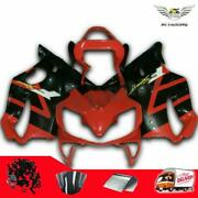 Ms Injection Fairing Red Black Abs Set Fit For Honda 2001-2003 Cbr600f4i W020