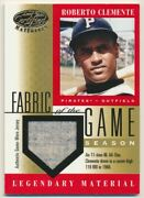 2001 Leaf Certified Fabric Of The Game Season Fg-5 Roberto Clemente E10102