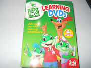 Leap Frog 4 Pack Dvd, 2004, 4-disc Set Teaches Letter Words Factory Math Circus