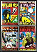 Nike Air Max2 Shoes Poster Set Lithograph Ad Sheets Signed By Frank Kozik 1996