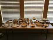 Vintage Franciscan Apple Dinnerware 87 Piece Lot Vg Made In Usa