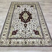 Yilong 5and039x8and039 Antique Handmade Silk Rugs Medallion Hand Knotted Carpets 270b