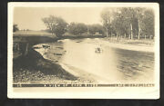 Rppc Lake City Iowa Coon River View Vintage Real Photo Psotcard 1912 Crabtree