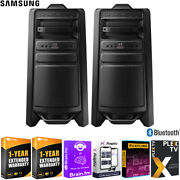 Samsung Mx-t70 Giga Party Audio 1500w Speaker And Subwoofer 2-pack +warranty Kit