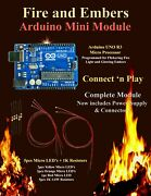 Fire Light And Glowing Embers Mini Module -add Animation To Model Rr Diorama 52
