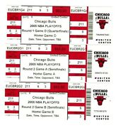 2005 Chicago Bulls Playoff Full Ticket Stubs 12 In All Ex+