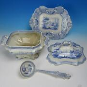 Jandg Alcock Cobridge Staffordshire - Moselle - Soup Tureen With Ladle And Undertray