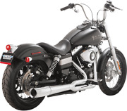 Vance And Hines Chrome Pro Pipe Exhaust Harley 12-17 Dyna Fxdf Fxdb Fxdwg Fxdc