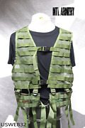 Us Army Molle Woodland Lbv Load Bearing Vest Military