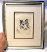 Marguerite Kirmse Org. Signed Etching Collie - For Dog Lovers