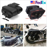 1 Pair Pu Leather Classic Motorcycle Saddle Bags Travel Luggage Bags Waterproof