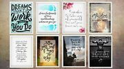 Motivational And Inspirational Prints A4 Or 11x17 Inch Wall Art Decor / Poster