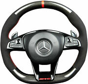 Mercedes Benz E-class W213 S213 Amg 2016 + Steering Wheel Carbon Fiber And Black