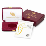 2020-w 50 Proof American Gold Eagle Box Ogp And Coa No Coins